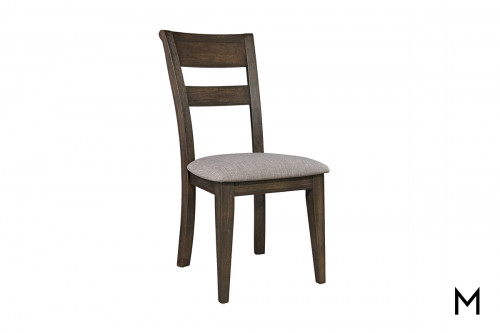 Slat Back Side Chair in Dark Chestnut