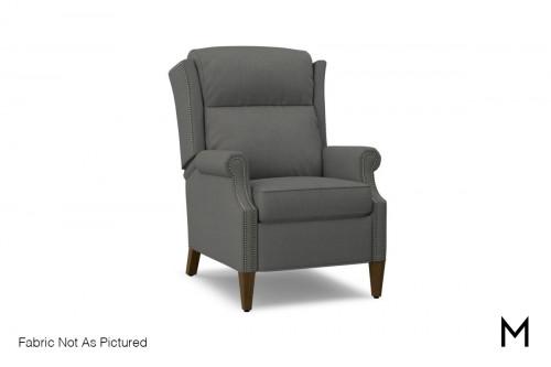 Montalk Power High Leg Reclining Chair in Topper Stone