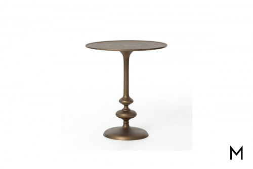 Marlow Matchstick Pedestal Table in Matte Brass