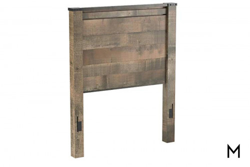 Trinell Youth Twin Panel Headboard in Brown with a Rustic Finish