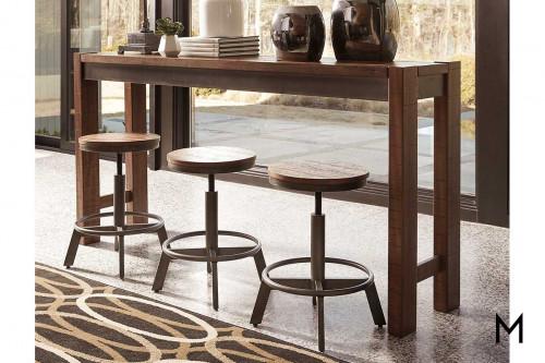 Torjin 4-Piece Sofa Bar Set with 3 Stools