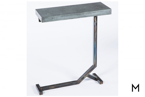 Rectangle Industrial Accent Table