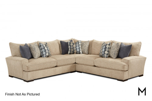 Magnitude Sectional with 3 Pieces and Gel Foam Seating