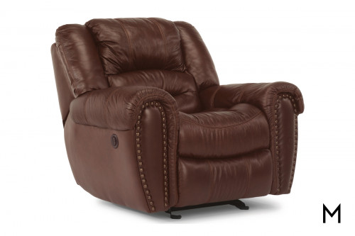 Leather Power Reclining Chair with Power Headrest