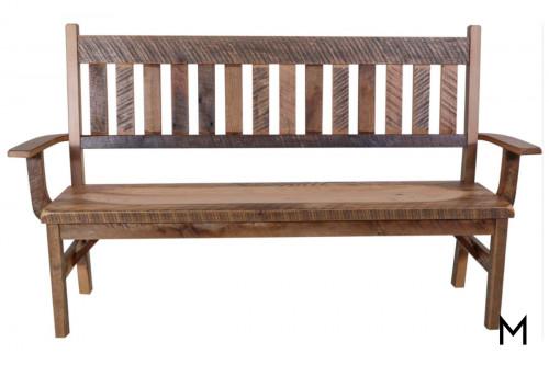Reclaimed Oak Deacon's Bench