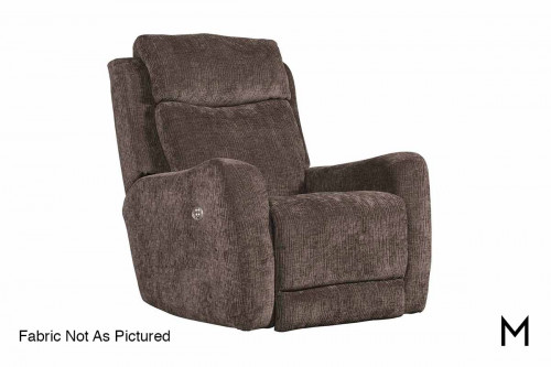 M Collection View Point Rocker Recliner in Pebble Beach Charcoal