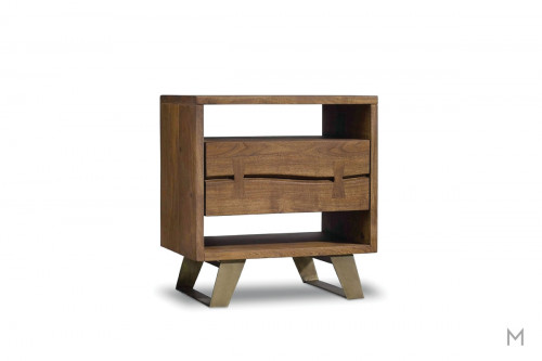 Transcend 1 Drawer Nightstand made of Acacia Wood
