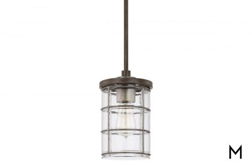Contemporary 1-Light Cage Pendant