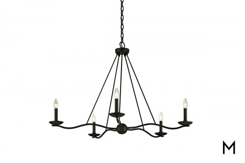 Forged Iron 5-Light Chandelier