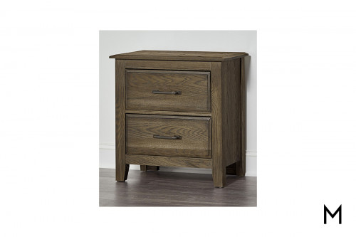 Loft 2-Drawer Nightstand