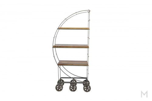 M Collection Iron Wheeled Display