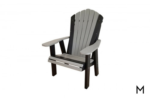 Gray with Black Patio Chair