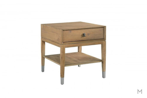 Avery Park Rectangular End Table with Three Drawer Storage