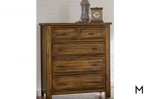 Maple Road Five Drawer Chest in Antique Amish