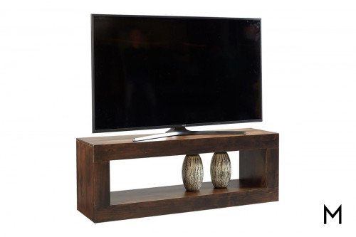 "Alder 60"" Open Console in Tobacco Finish"