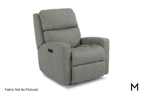 Catalina Power Rocking Recliner with Power Headrest and Footrest in Ash