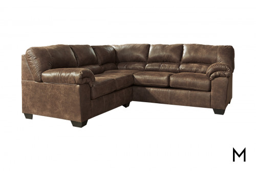 Bladen 2-Piece Sectional Sofa in Coffee Brown