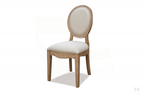 Oval Back Upholstered Chair