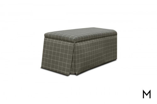 Kathryn Cocktail Ottoman in Sterlington Smoke