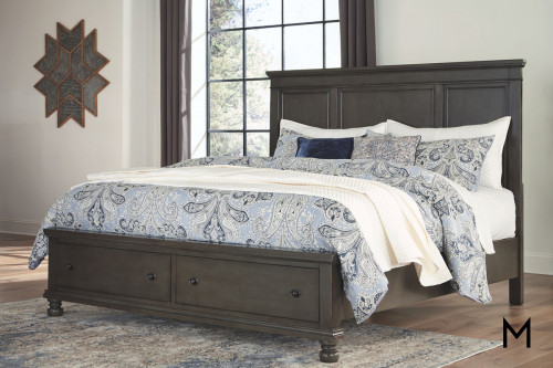 Devensted Queen Panel Bed with Storage