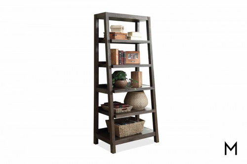 Promenade Canted Bookcase in Warm Cocoa