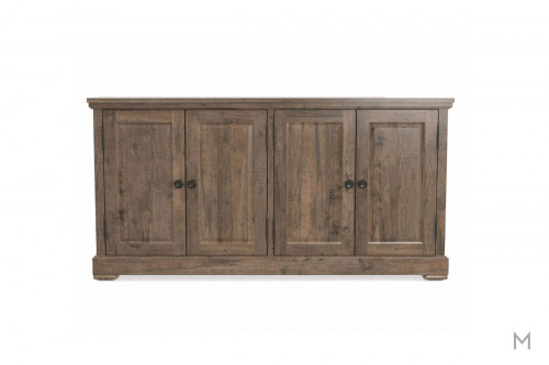Hawkins Four Door Server in Distressed Brown