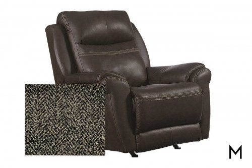 M Collection Fandango Rocking Recliner in Tweed Gunmetal