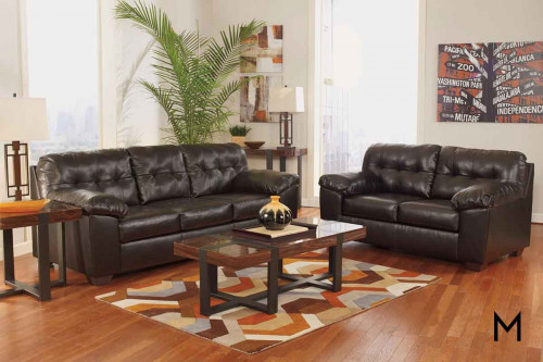 Alliston DuraBlend Sofa in Chocolate Brown