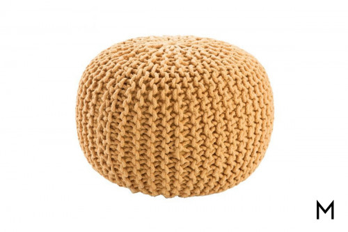 Floor Pouf in Cornsilk Yellow
