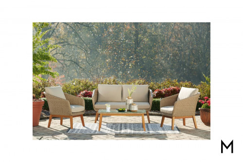 Woven 4-Piece Patio Seating Set
