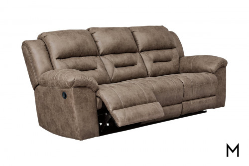 Stoneland Reclining Sofa in Brown