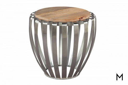 Nickel Tapered Side Table