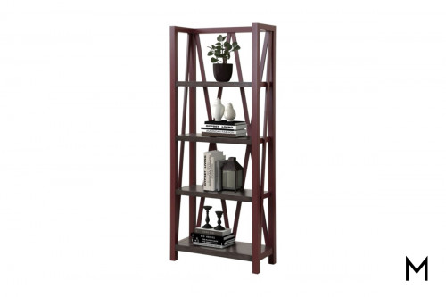 M Collection Cranberry Étagère Bookcase