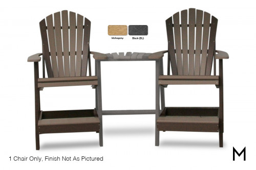 Adirondack Balcony Chair in Mahogany and Black
