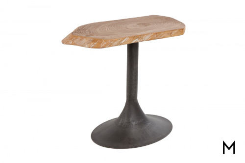 Pods Large End Table with Gray Iron Base