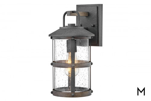 Outdoor Lantern with Seeded Glass