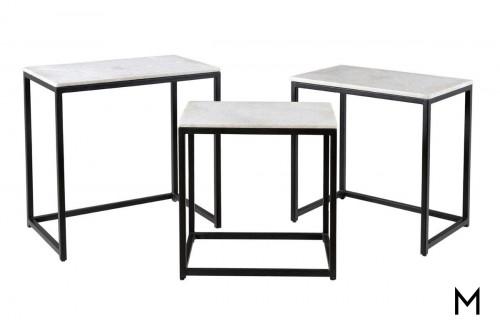 Ponga Black Nesting Tables
