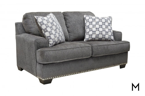 Locklin Loveseat in Carbon Grey