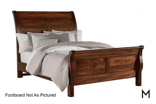 Artisan Choices Sleigh King Storage Bed in Rustic Cherry