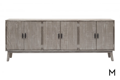 M Collection Weathered Gray Media Console