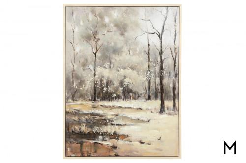 Winter In The Wilderness Canvas Art