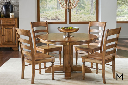 Bennett 5 Piece Dining Set in Solid Birch