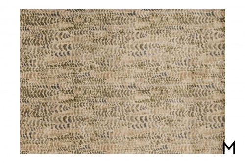 Fern Leaf Area Rug 5'x7'