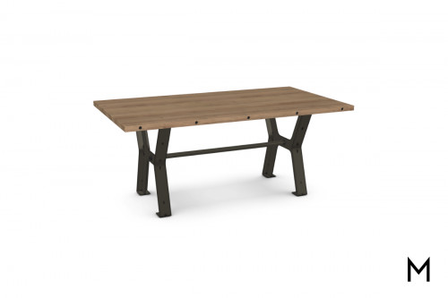 Double Crossbuck Dining Table