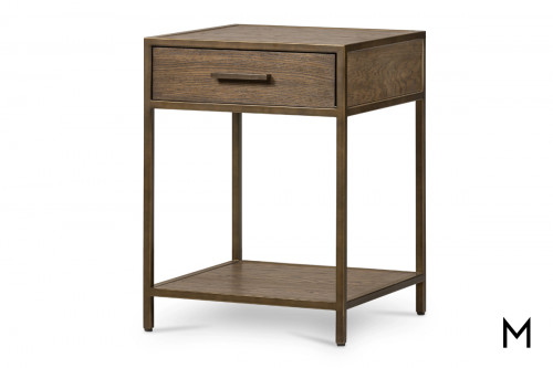 Modern 1-Drawer Nightstand with Shelf