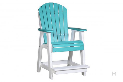 Aruba White Dining Stool