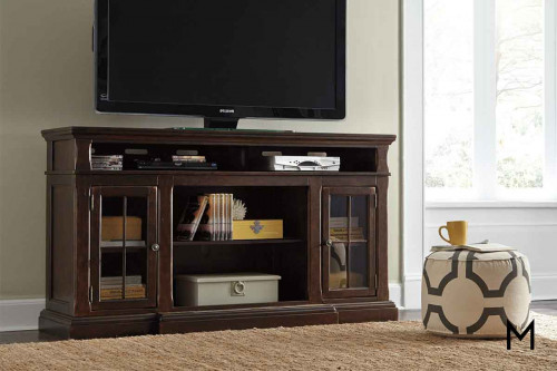 Roddinton TV Stand with Glass Doors