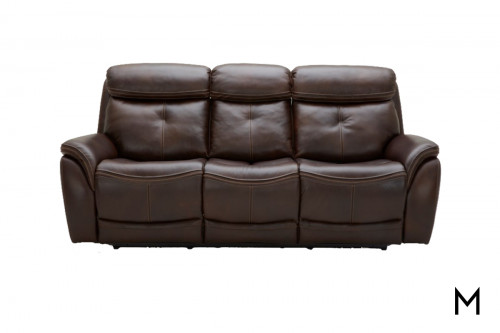Home Run Power Recling Sofa in Kipton Chocolate Brown Leather