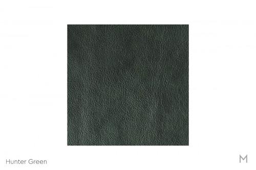 Corissa Leather Sofa in Hunter Green