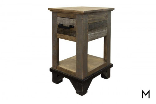 Loft Chairside Table with Drawer